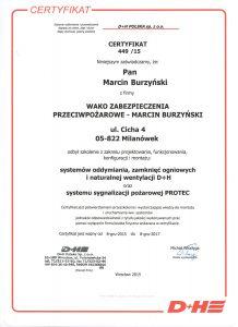 Dh - certyfikat