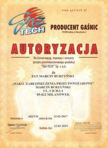 autoryzacja gaz tech 001