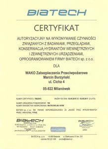 biatech certyfikat